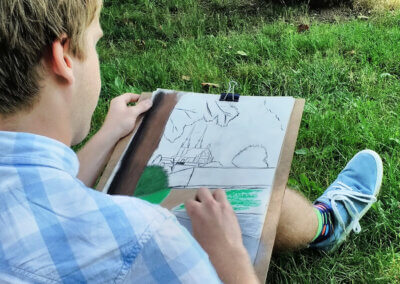 Urban sketching: skicování pastelem