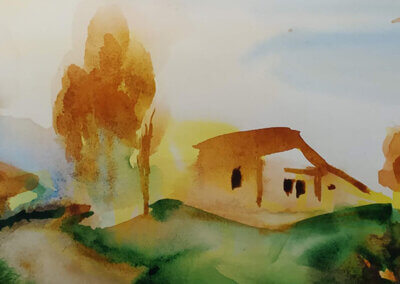 Akvarel z kurzu Akvarelu