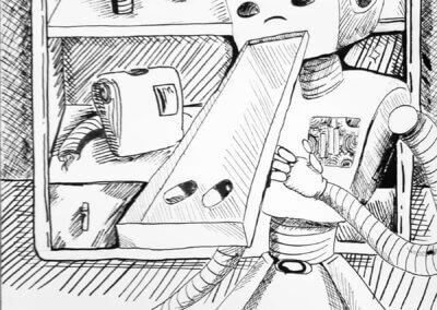 Ilustrace a komiks z výtvarného kurzu Kreslení a komiks