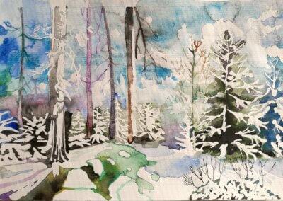 Denisa Belzová, akvarel