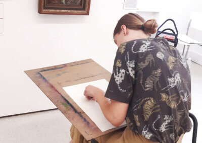 Kreslení a malování v galerii na talentové zkoušky