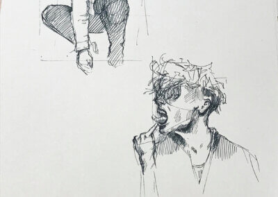 Sketching, kreslení postavy nejen tužkou jako ilustrace