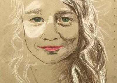 Kreslení a skicování portrétu barevnými tužkami