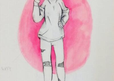 Mango a kreslení postavy, ilustrace