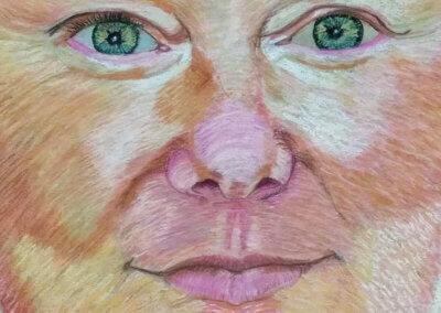 Kreslení portrétu pastelem