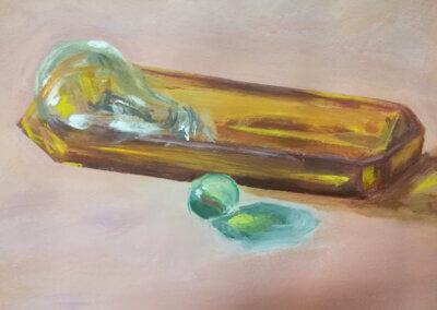 Talentové zkoušky a malování na plátno