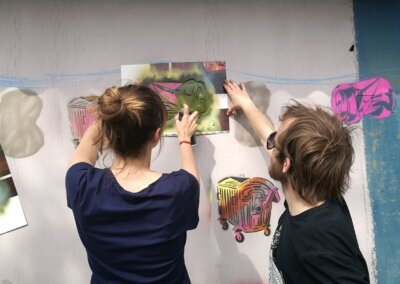 Talentové zkoušky a malování venku