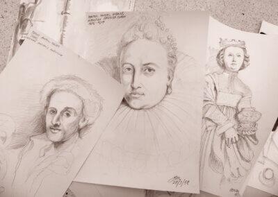 Kreslení portrétu a talentové zkoušky