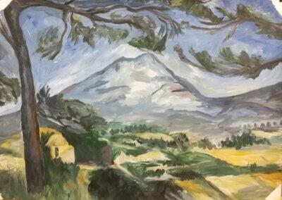 Malování krajiny na plátno akrylem