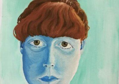 Olejomalba a portrét na plátně