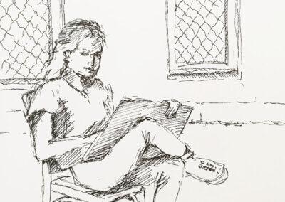 Sketching, skicování podle postavy a kreslení nejen tužkou