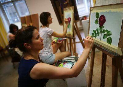 Olejomalba, malování na plátno,kreslení a malování