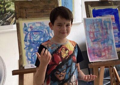Malování barvami s dětmi na kroužku