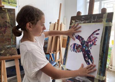 Malování a kreslení s dětmi a graafické techniky