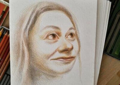 Kreslení portrétu pastelkami nejen podle fotografie a příprava na přijímačky