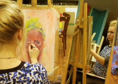 Malování olejomalbou na plátno