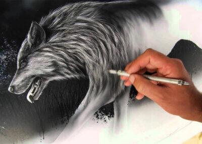 Malování airbrushem